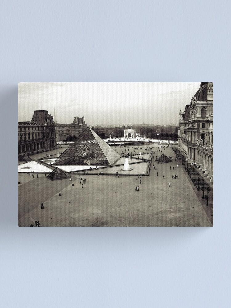 Alternate view of Louvre, Paris 2008 Canvas Print