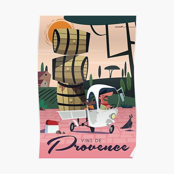 Affiche Vins de Provence Poster