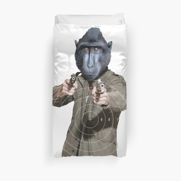 MOST HUNTED REAL MACAQUE SAVE WILDLIFE Duvet Cover