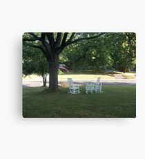 Gossiping Chairs Canvas Print