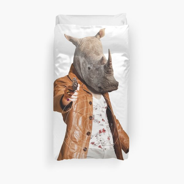 MOST HUNTED REAL RHINO SAVE WILDLIFE Duvet Cover