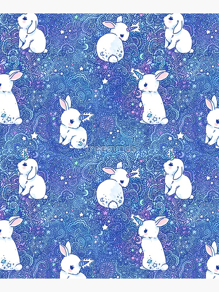 Unicorn Bunny Pattern by freeminds