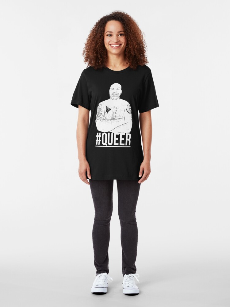 Alternate view of QUEER - INVERT Slim Fit T-Shirt