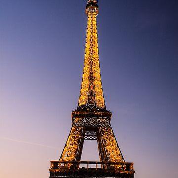 Eiffel Tower and sunset (2) by MathieuLongvert