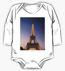 Eiffel Tower and sunset (2) One Piece - Long Sleeve