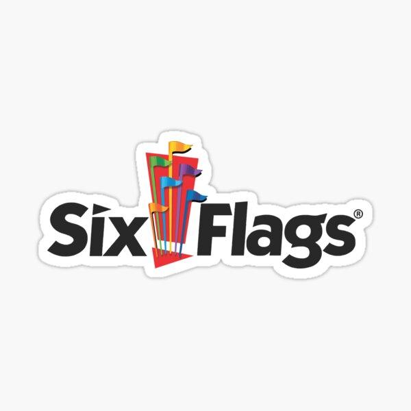 six flags Sticker