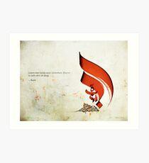 Arabic Calligraphy - Rumi - Lovers Art Print