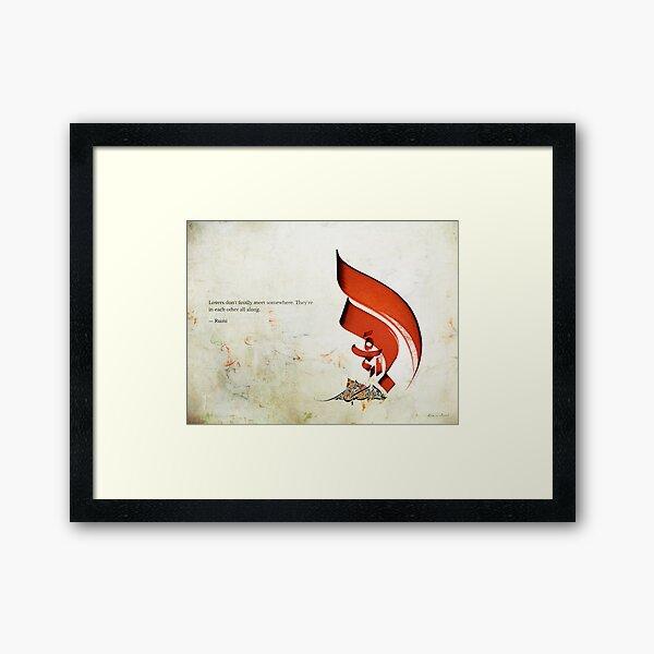 Arabic Calligraphy - Rumi - Lovers Framed Art Print
