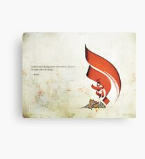 Arabic Calligraphy - Rumi - Lovers Metal Print