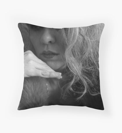 Thinking About Creating Myself Throw Pillow
