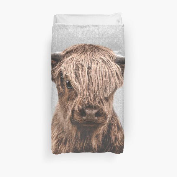 Highland Calf - Colorful Duvet Cover