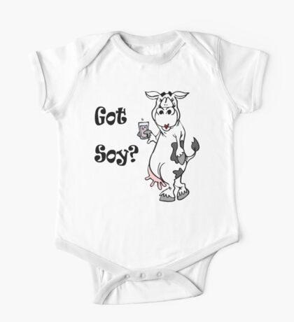 "Funny Vegetarian Vegan ""Got Soy"" Kids Clothes"