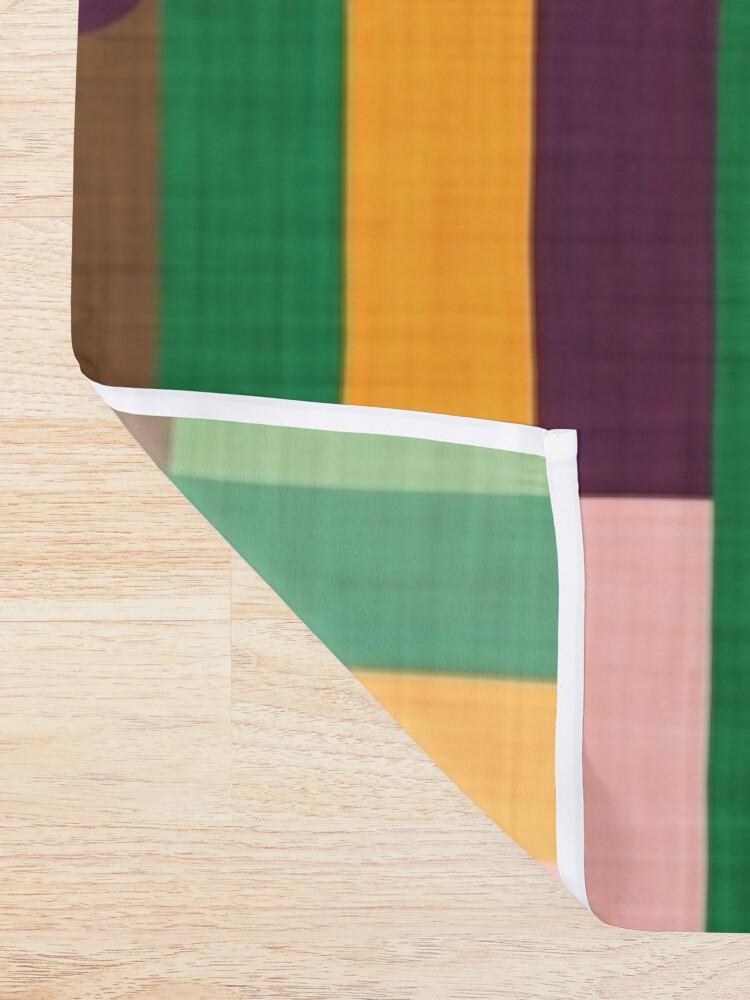 Alternate view of Retro Color Block Popsicle Sticks Shower Curtain