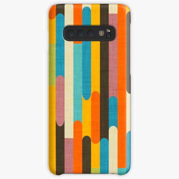 Retro Color Block Popsicle Sticks Orange  Samsung Galaxy Snap Case