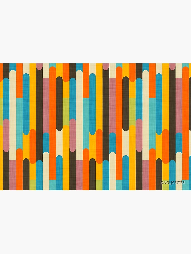 Retro Color Block Popsicle Sticks Orange  by susycosta