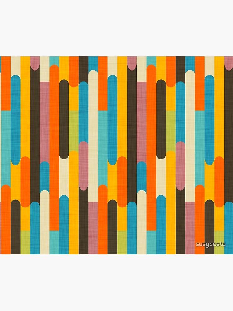 Retro Color Block Popsicle Sticks Orange  by susycosta