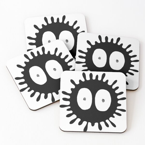 Tiny World of The Microbiome Coasters (Set of 4)