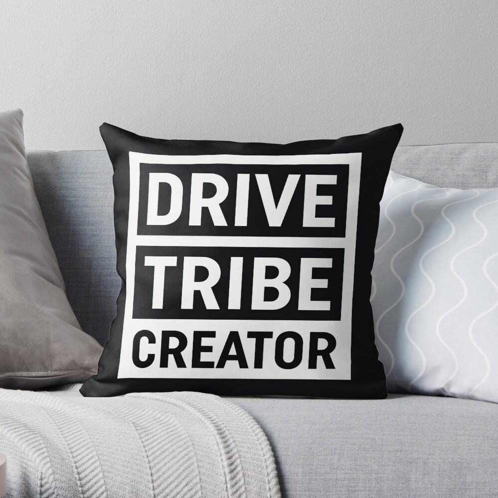 DriveTribe Creator Throw Pillow