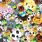 Animal Crossing New Leaf Tsum Tsum Pattern by pirateprincess