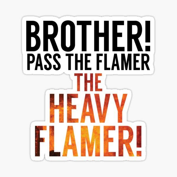 Crispy barbecued flamer Sticker