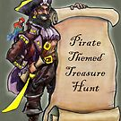 Pirate with Treasure Map by Kevin Middleton