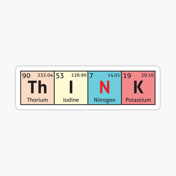 Periodic Table - Think Sticker