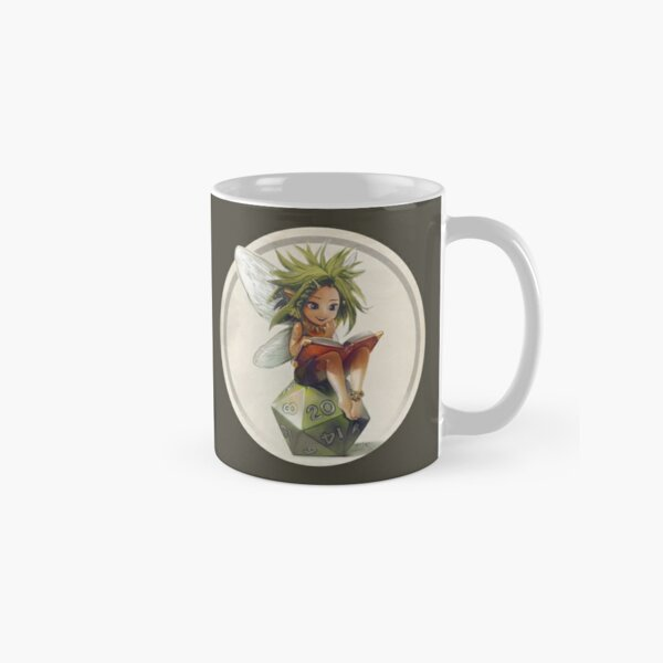 RPG fairy on her d20 dice Classic Mug