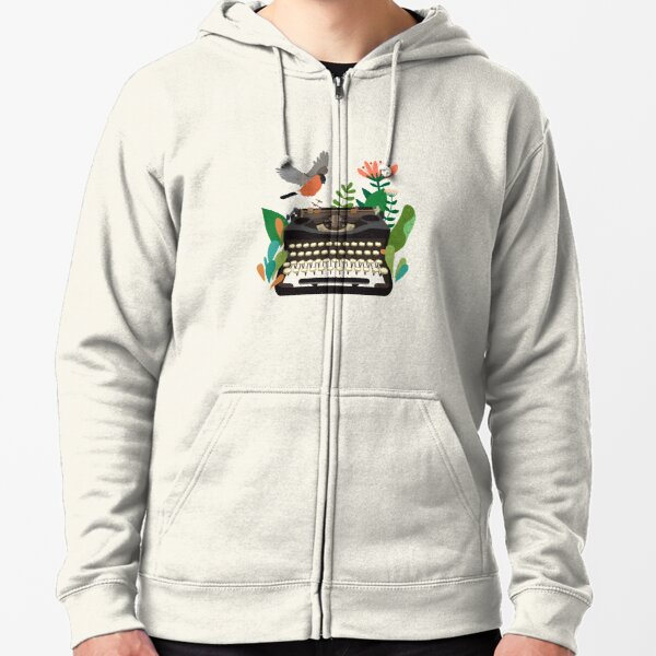 The bird and the typewriter Zipped Hoodie