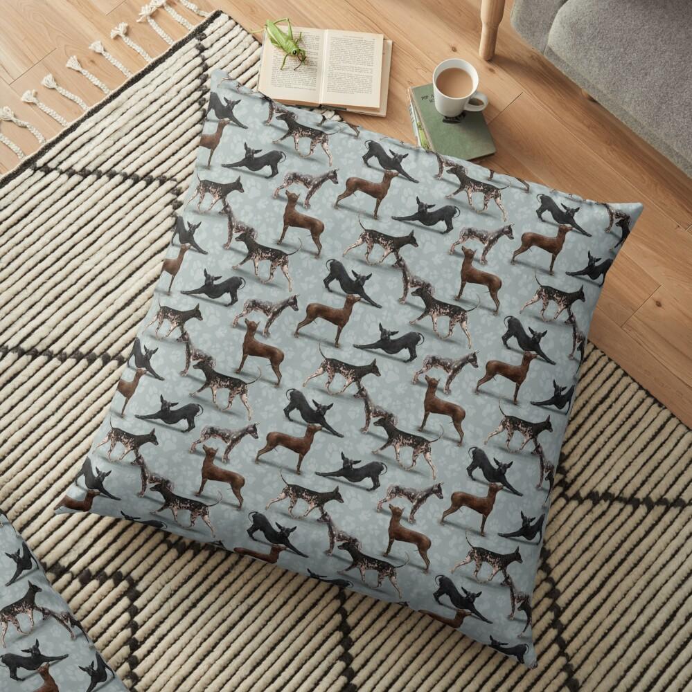 The Peruvian Hairless Dog Floor Pillow