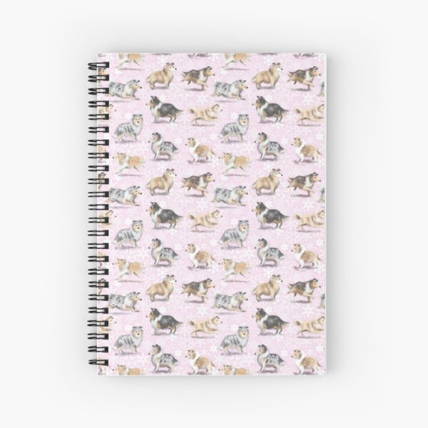 The Christmas Rough Collie (Pink) Spiral Notebook