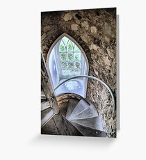 The Castle Window Greeting Card