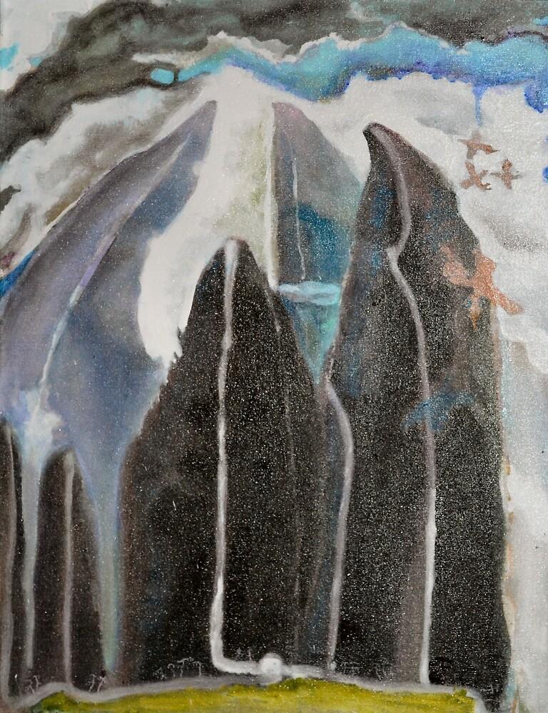 Mountain Trees Outsider Art by Nancy Mauerman