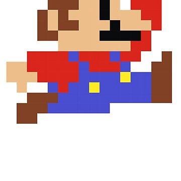 8 bits Mario Nintendo Jumping de astropop
