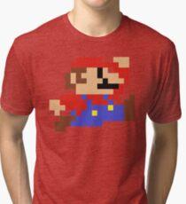 8-Bit Mario Nintendo Jumping Tri-blend T-Shirt