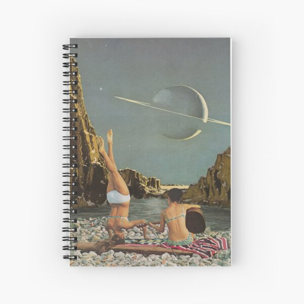 Serenade to Saturn Spiral Notebook