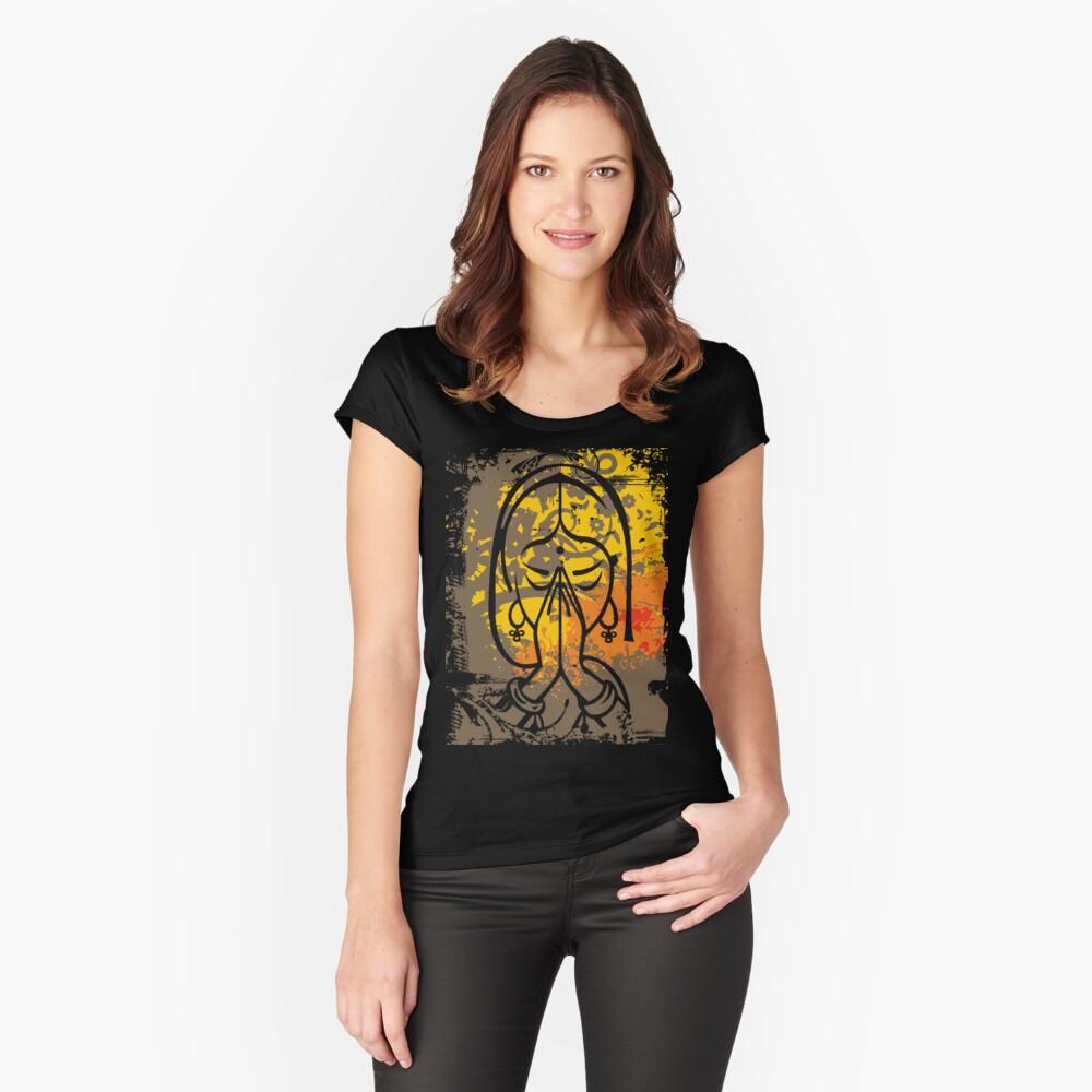 Namaste Tailliertes Rundhals-Shirt
