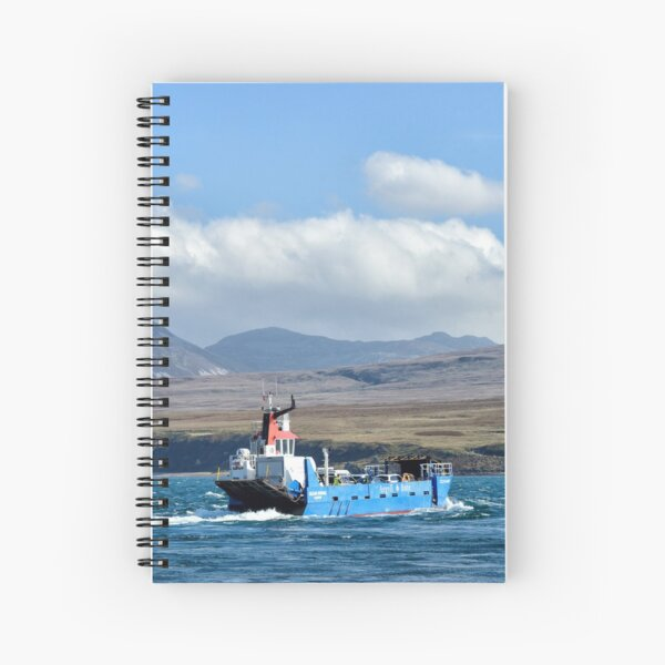 The ferry across to Jura, Scotland Spiral Notebook