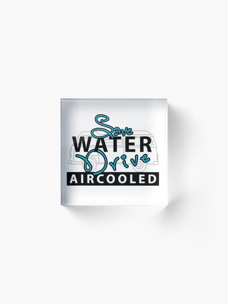 Alternate view of save water Acrylic Block