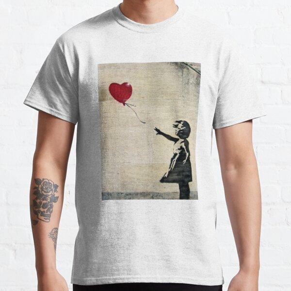 Banksys Mädchen mit einem roten Ballon III Classic T-Shirt