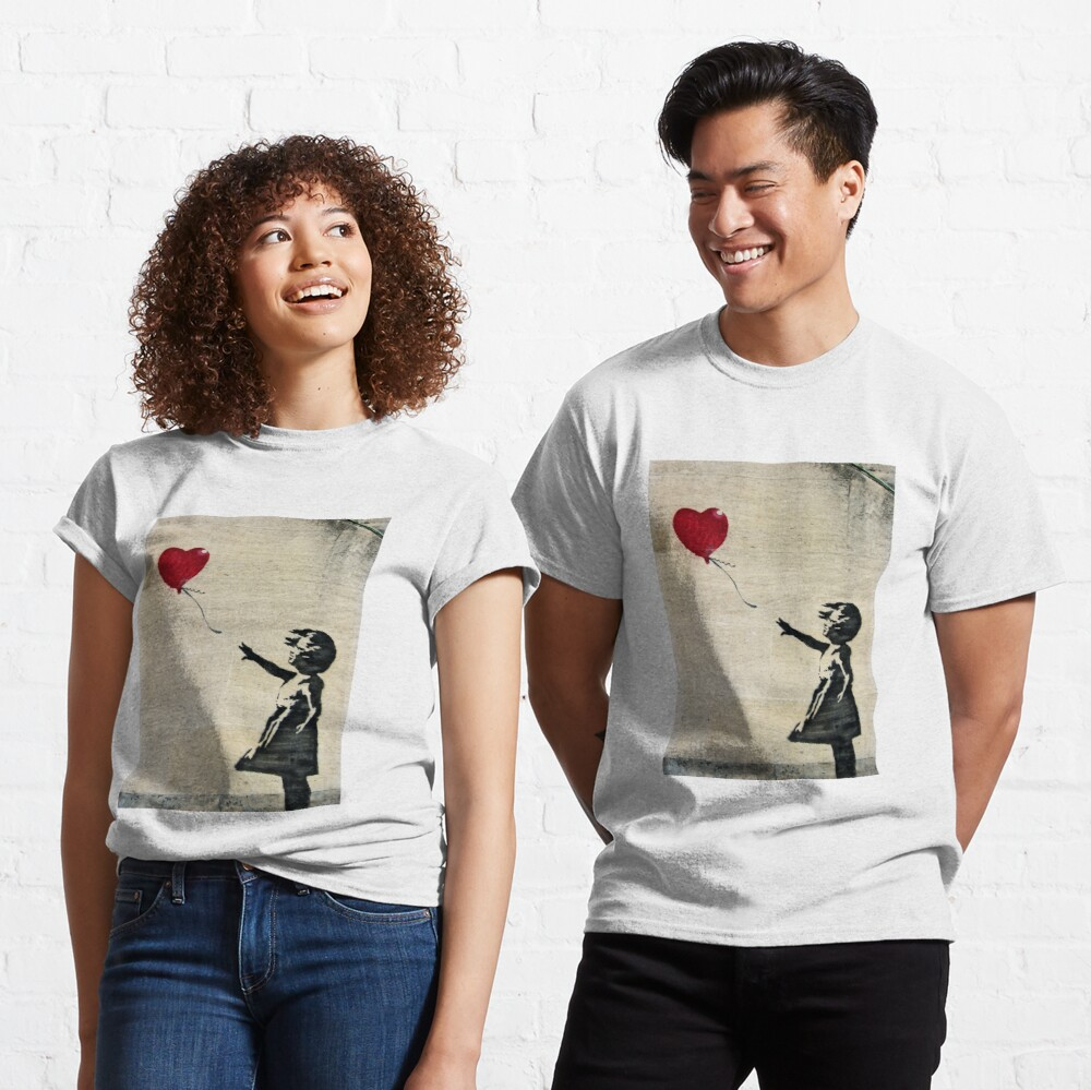 Banksy's Girl with a Red Balloon III Classic T-Shirt