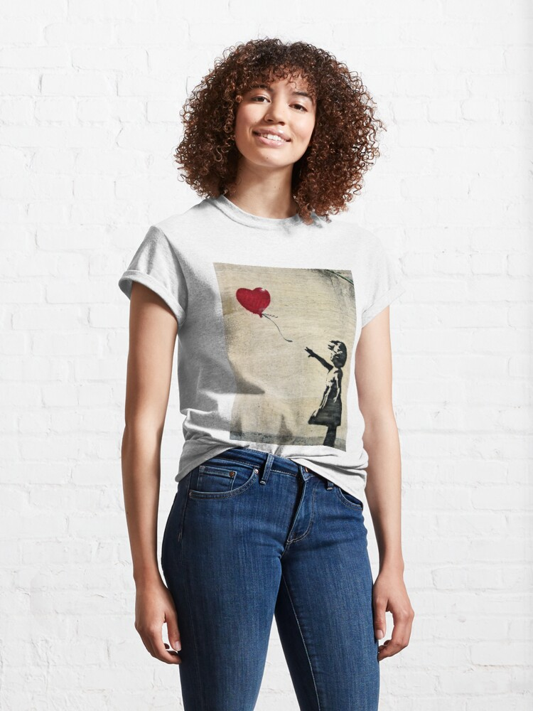 Alternate view of Banksy's Girl with a Red Balloon III Classic T-Shirt