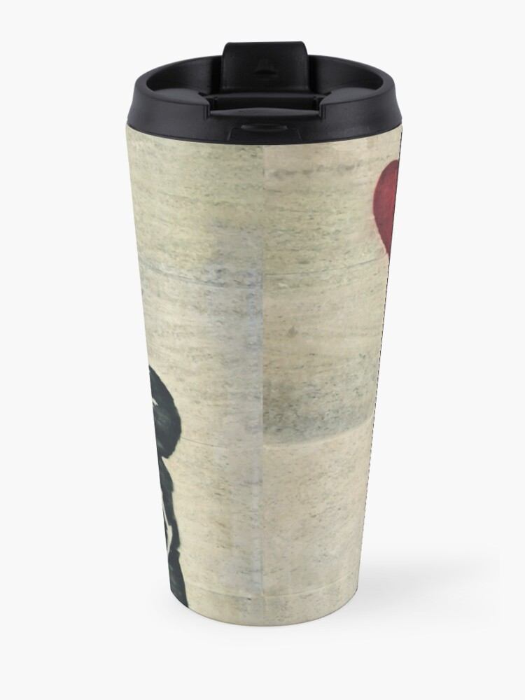 Alternate view of Banksy's Girl with a Red Balloon III Travel Mug