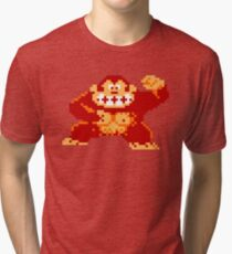 8-Bit Nintendo Donkey Kong Gorilla Tri-blend T-Shirt