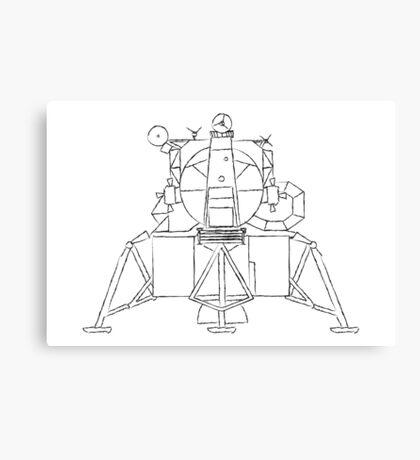 Lunar module sketch Canvas Print
