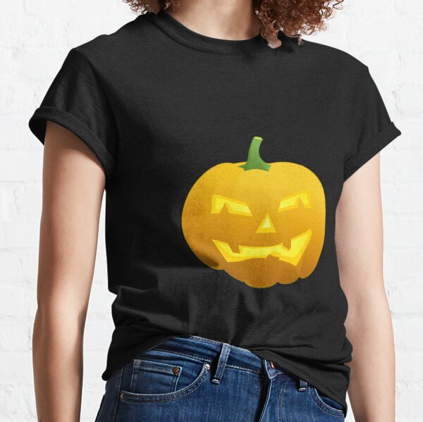 Black Print Expression Tees Evil Pumpkin Face Youth T-Shirt
