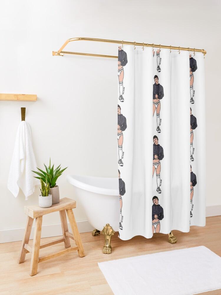 Alternate view of Sneaking a Peak Shower Curtain