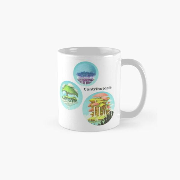 Contributopia (with title and planets in bubbles) Classic Mug