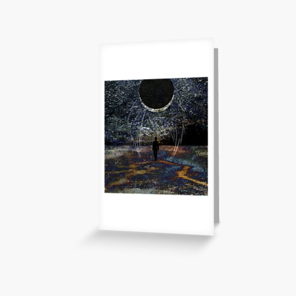 State of Dreams (Waxing Crescent) Greeting Card