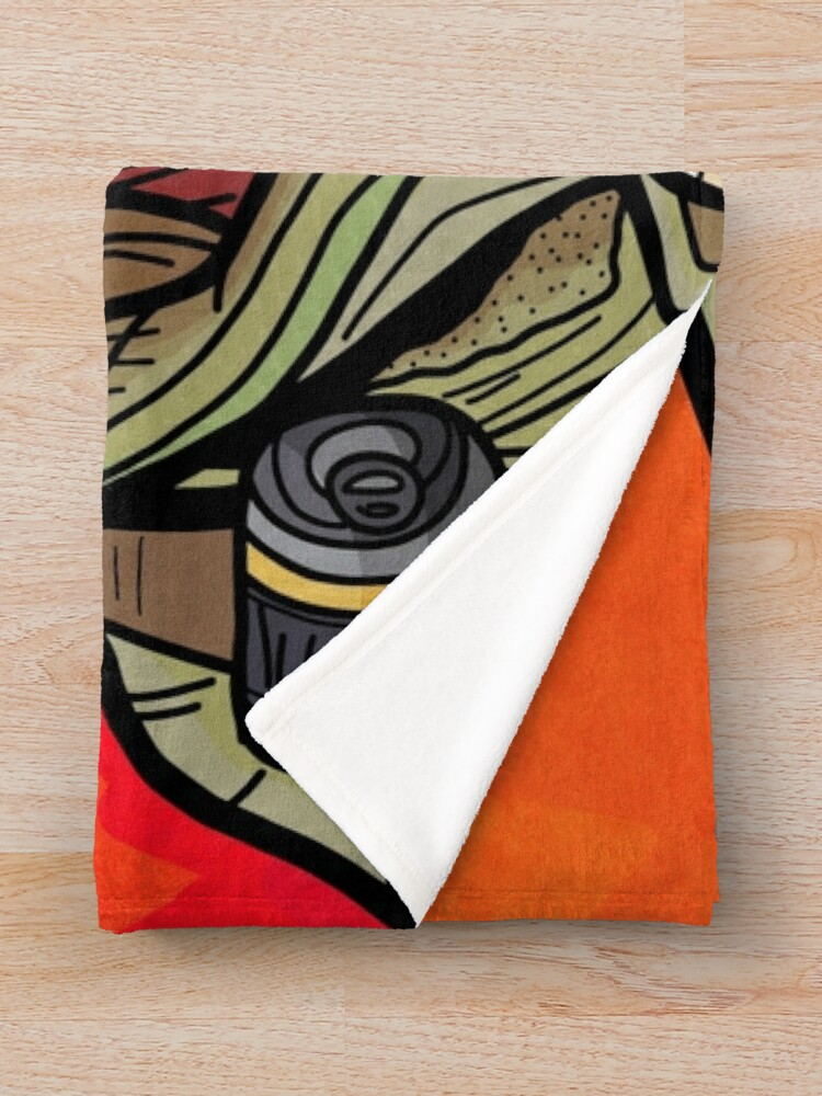 Alternate view of Fl4k Throw Blanket