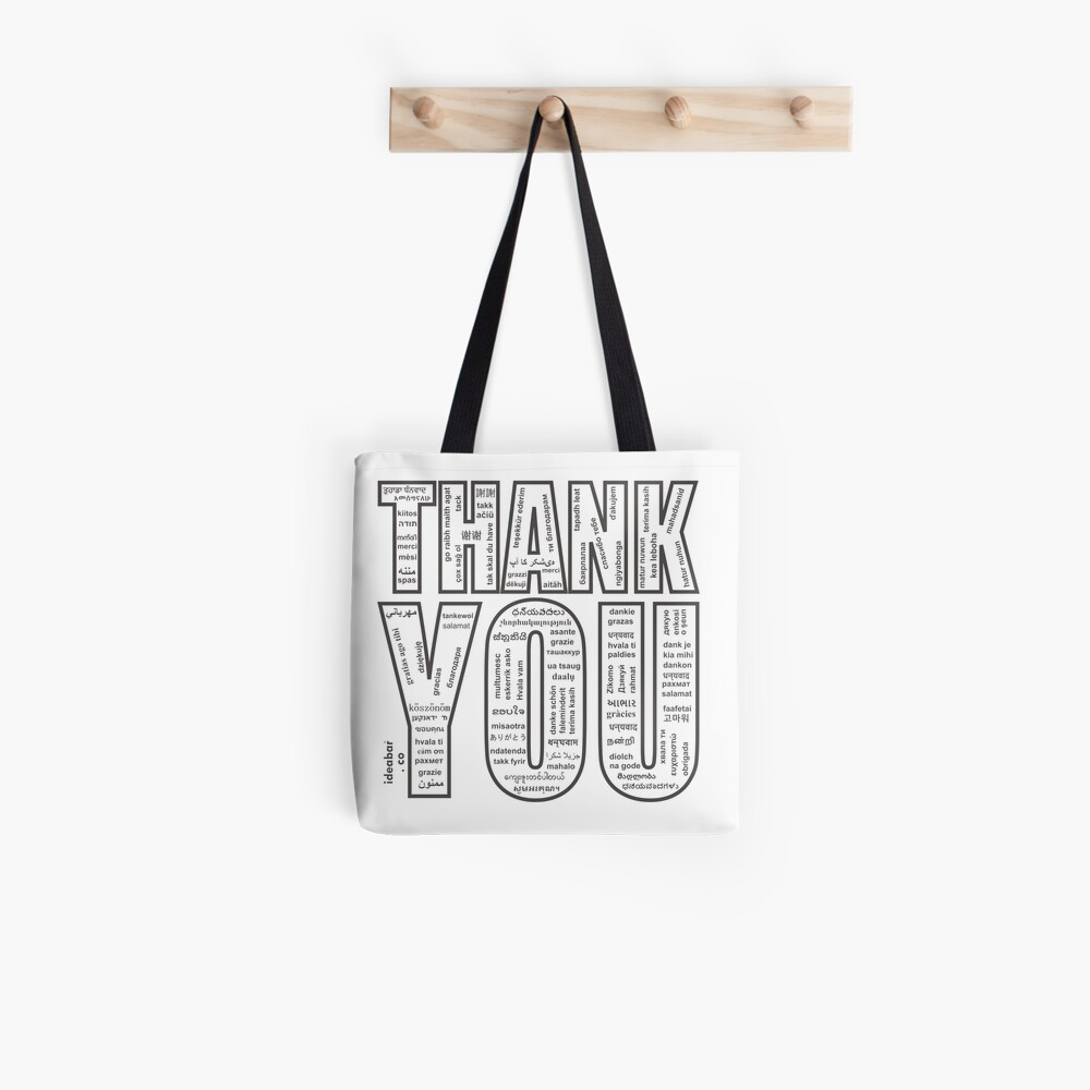 THANK YOU in All 104 Languages in one place Tote Bag